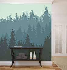 bedroom creative wall mural inspiration fascinating ideas silhouette of forest in winter wallpaper inspiration