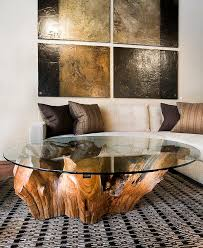 brilliant tree trunk coffee table home decorating ideas throughout