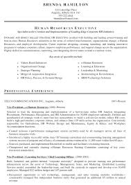 Sample Resume For Experienced Hr Executive by Hr Cv Samples Resume Template 2017
