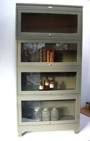 Metal Bookcase With Glass Doors Reserved For Teresa Vintage Bookcase Metal Lawyers Barrister