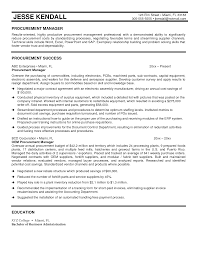 sample resume for procurement officer free resume example and