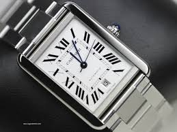 cartier bracelet steel images Cartier watches tank solo xl stainless steel swiss watch ref jpg