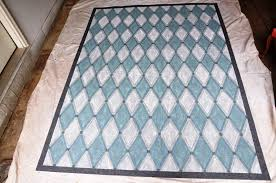 Diy Outdoor Rug Serendipity Refined Blog Harlequin My Hand Painted Patio Rug