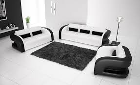 Leather Modern Sofa Free Shipping 2013 New Classic Black White Genuine Leather Solid