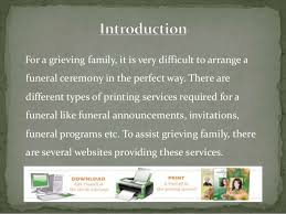 Funeral Program Printing Services Funeral Program Templates