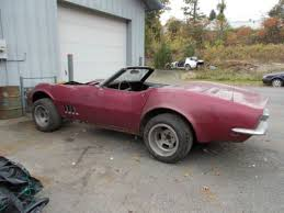 1968 corvette parts for sale sell used 1968 corvette convertible project parts car in kingston