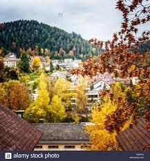 Bad Liebenzell Blick Auf Kleine Stadt Bad Liebenzell Im Herbst Black Forest