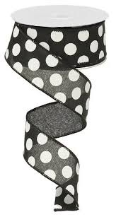 black and white polka dot ribbon black white polka dot ribbon paul michael company