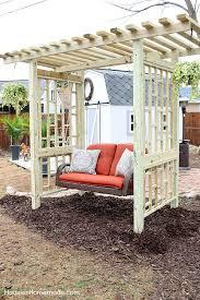swing arbor plans garden swing plans for the backyard hoosier homemade