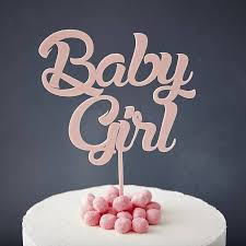 baby girl baby shower cake topper by
