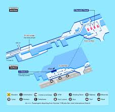 Iah Terminal Map Airport Guide International At The Airport In Flight