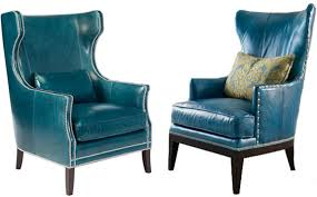 Blue Leather Chair Amazing Of Teal Blue Accent Chair Teal Blue Armchair Related
