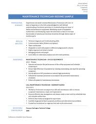 pleasing hotel maintenance job resume on sample resume in hotel