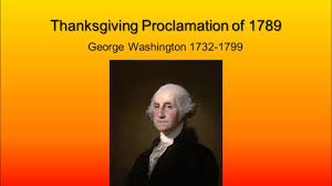 george washington s thanksgiving proclamation 1789