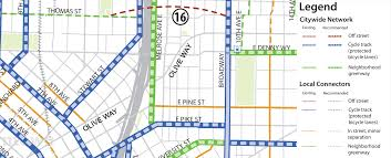 Seattle Bike Map by Let U0027s Make Olive Way A Better Street For Everyone The Northwest