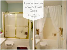 how to remove shower glass doors since we are looking at old