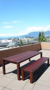 ipe outdoor table u0026 bench in element designs