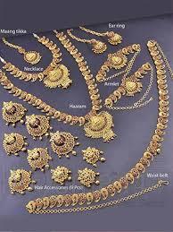 bridal sets for rent bharatanatyam jewellery set studded with stones indian
