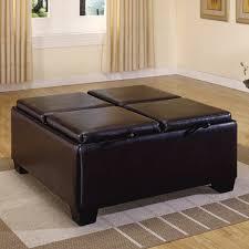 storage ottoman with tray