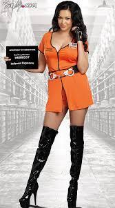 Orange Prison Jumpsuit Halloween Costume Size Inmate Costume Size Criminal Costume