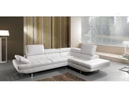 canape cuir blanc angle canapé cuir maxdivani habart angle droit en cuir blanc pas cher