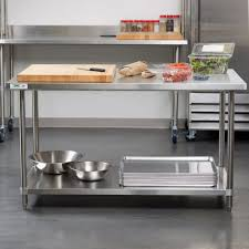 island industrial kitchen table stainless steel stainless steel