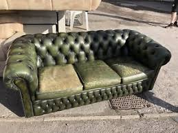 used chesterfield sofa leather chesterfield sofa settee ebay