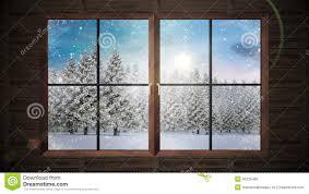 window showing snow falling on fir tree forest stock footage window showing snow falling on fir tree forest stock footage video 46235466