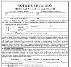 sle eviction notice maine printable sle 3 day eviction notice form real estate forms