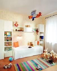 Toddler Platform Bed Bedroom Modern Interior Design With Wall Mounted Bookshelf And