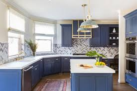 navy blue kitchen cabinet design 10 blue tiful kitchen cabinet color ideas hgtv