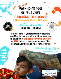 free back to haircuts city of san diego official website