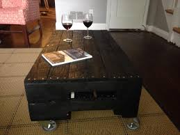 Wooden Coffee Table With Wheels by Diy Wood Pallet Coffee Table With Wheels 101 Pallets