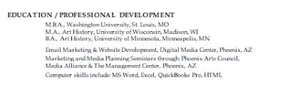 Resume Education Section Examples How To List An Mba On A Resume Susan Ireland Resumes