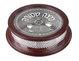 matzah holder matzah holder wood and silver plated