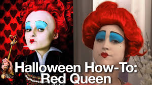 halloween costume makeup tutorial queen of hearts from alice in