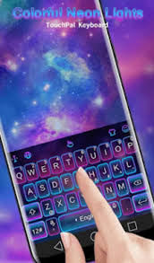keyboard themes for android free download colorful neon lights keyboard theme for android download