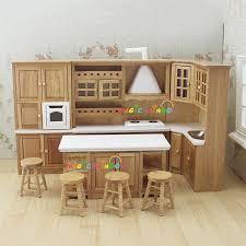kitchen dollhouse furniture aliexpress buy doll house kitchen furniture wooden toys