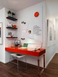 Shelves Built Into Wall Office Shelving With Modern Computer Desk In Minimalist Home