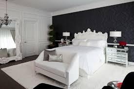 chambre a coucher baroque design interieur papier peint noir motif baroque chambre coucher