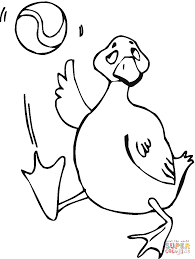 goose play ball coloring page free printable coloring pages