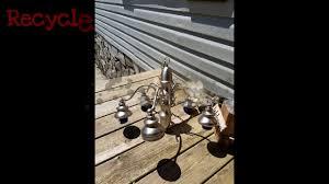 Mason Jar Wagon Wheel Chandelier Diy Mason Jar Chandelier Youtube