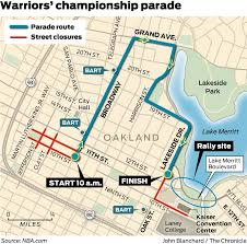 Bart Train Map by Oakland Ready To Host Up To 2 Million Fans At Warriors Parade Sfgate
