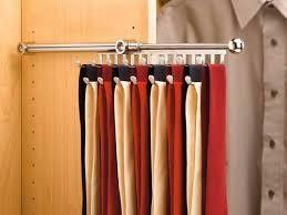 Closet Accessories Tie Rack Chrome Extendable Accessory Choices