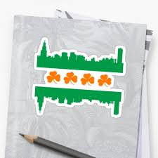 Chicagos Flag Irish Chicago Flag Skyline