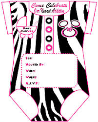 free zebra print baby shower invitation template u2013 orderecigsjuice