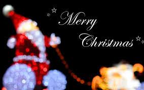 blurry santa claus merry christmas