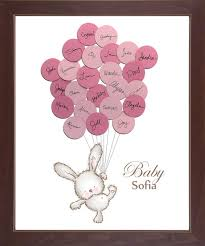 baby shower sign in book baby shower sign in guest book print bunny say anything design