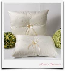 wedding kneeling pillows a set of ivory wedding kneeling pillows with pearls