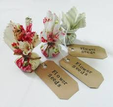 flower seed wedding favors set of 10 country garden flower seed wedding favours with